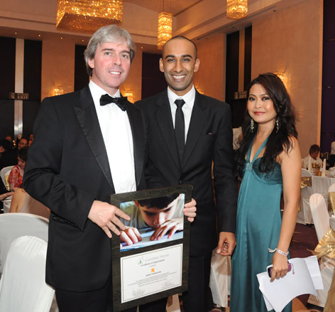 Bridge of Hope Charity Dinner in Bangkok February 2011, for children living with HIV/AIDS and disabilities.