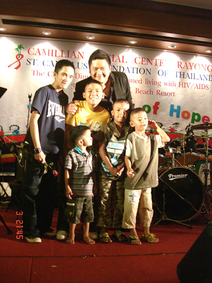 Father Giovanni Contarin attending the Bridge of hope charity dinner 03-09-10 In support of Children living with HIV/AIDS at the Camillian Social Center Rayong Thailand.