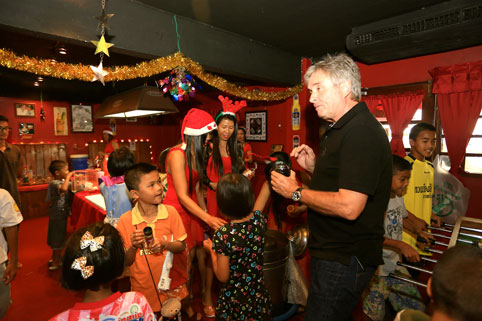 Christmas at The Camel Pub Ban Chang supports the Camillian Social Center Children living with HIV/AIDS yet again.
