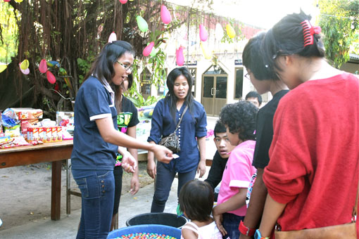 Children living with HIV/AIDS bring in 2012 with a lot of smiles at the Camillian social center rayong thailand