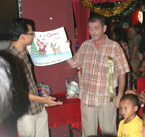Quinny's Christmas at The Camel Pub Ban Chang supports the Camillian Social Center Children living with HIV/AIDS yet again.