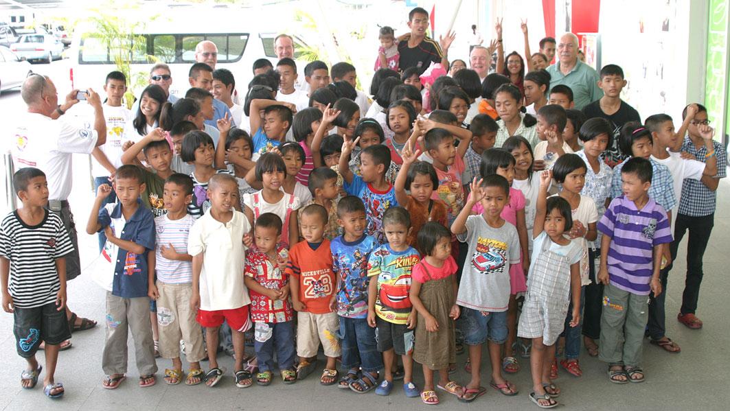Christmas Shopping for the Kids at the Camillian Social Center Rayong at BIG C Rayong.