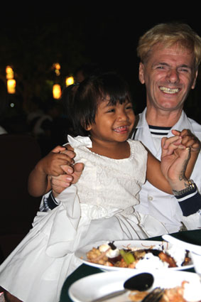 Father Giovanni Contarin attending the Bridge of hope charity dinner 13-12-12 In support of Children living with HIV/AIDS at The Camillian Social Center Rayong