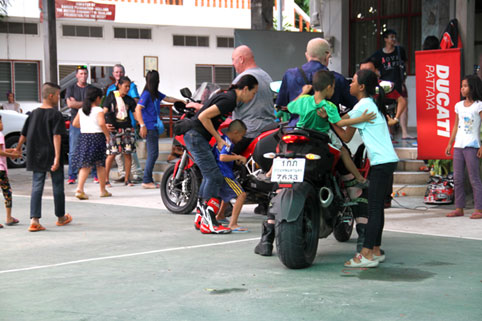 Pattaya Ducati visit the Camillian Social Center on the Sunday 28th of September 2014.