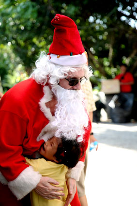 The Camillian Social Center Children living with HIV/AIDS Santa Claus lands 21st of December 2014.