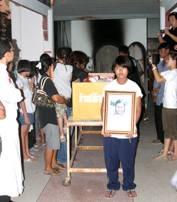 "One of the children of the Camillian Social Center Rayong ""NEW2"" her funeral"