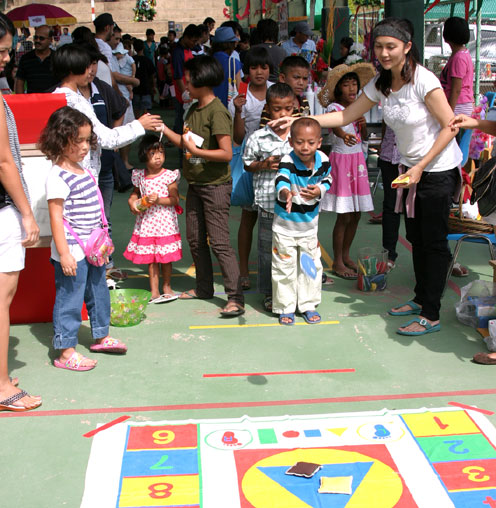 The garden international school invites HIV/AIDS children of the Camillian Social Center Rayong Thailand Sponsored by Stefano
