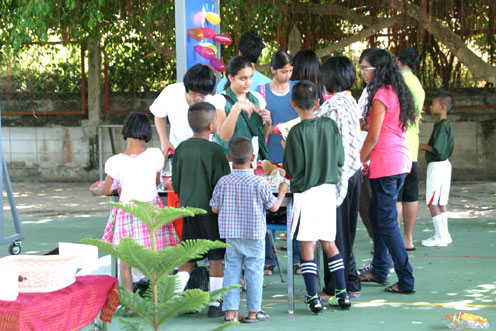 children living with HIV/AIDs were invited to CHRISTMAS FAIR at the Garden International School Ban Chang.