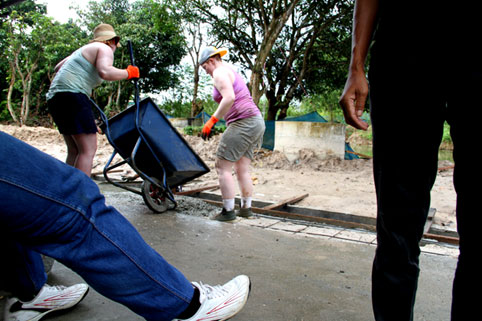 Letterkenny Institute of Technology Gaisce Society Students volunteering at the Garden of Eden Rehabilitation Center for People living with HIV/AIDS