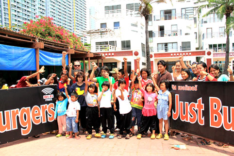 JUST BERGER'S JHOMTIEN for the Kids at the Camillian Social Center Rayong sponsored by JUSTIN FROM JUST BURGER'S