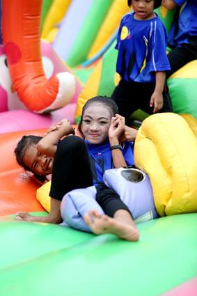The Jesters Fair September the 7th 2014 a little sunshine the Camillian Social Center Rayong to help the children living with HIV/AIDS.