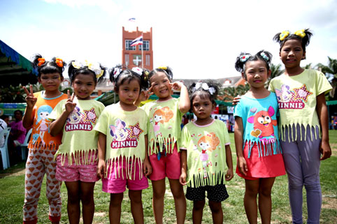 The Jesters Fair September the 4th 2016 a little sunshine the Camillian Social Center Rayong to help the children living with HIV/AIDS.