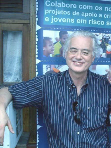 Jimmy Page Visits children living with HIV/AIDS at the Camillian Social Center Rayong in late 2010