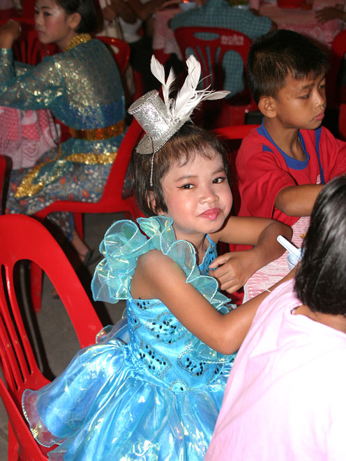 Loy Krathong was celebrated by the kids living with HIV/AIDS at the Camillian social center Rayong Thailand.