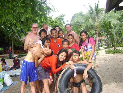 Camillian Children living with hiv/aids having a day out with Norman