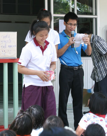 HIV/AIDS Kids enjoy camp week at home in the Camillian Social Center Rayong Thailand