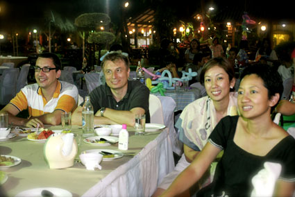 Mr Peter Burke takes all our children for dinner at the Kruarimklong Restaurant in Rayong on Sunday the 4th of December 2011.