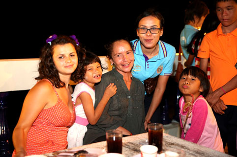 children living with HIV/AIDs were invited to DINNER BY DR, PATRICK COLONNA.