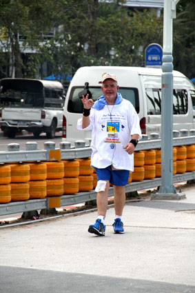 50 kilometer walk for Paul Patterson on his 50th Birthday to support the Children Living with AIV/AIDS at The Camillian Social Center Rayong 2014.