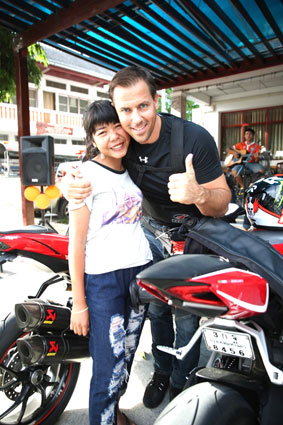 Pattaya Ducati visit the Camillian Social Center on the Sunday 13rd of September 2015.