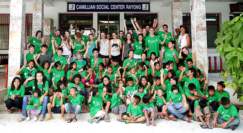 The Regent School Pattaya invited the children living with HIV/AIDS at the Camillian Social Center Rayong to the beach.
