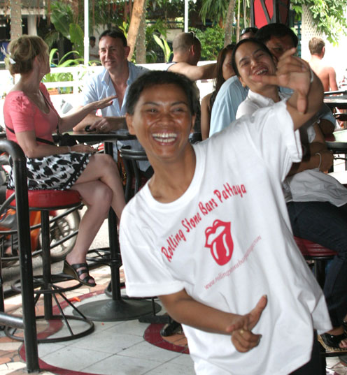 The children living with HIV/AIDS from the Camillian Center Rayong are treated to an afternoon party by Gary of The Rolling stones bar walking street Pattaya.