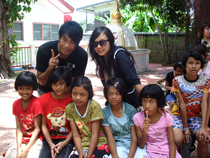 The Students from Rajamangala University came to visit our children living with HIV/AIDS