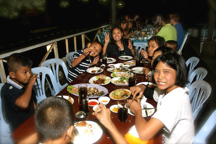 Night out for the HIV/AIDS children of the Camillian Social Center Rayong Thailand Sponsored by Stefano