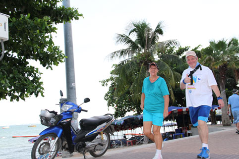 25 kilometer walk for for the Pattaya Heros hosted by the Sapphire Club Soi 15 Walking Street Pattaya