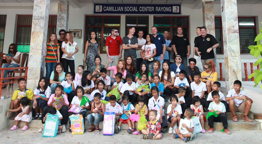 The children living with HIV/AIDS from the Camillian Center Rayong are being supported by the Sapphire Club, Walking Street Pattaya