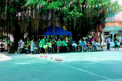Songkran 2016 for children living with HIV/AIDS at the Camillian Social Center Rayong