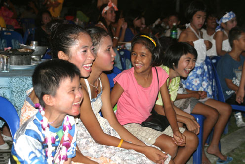 Songkran for children living with HIV/AIDS at the Camillian Social Center Rayong