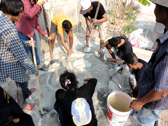 "Our Teenagers living with HIV/AIDS ""Pay It Forward"" by constructing a fish farm for the local community that will benefit very poor families in the area."