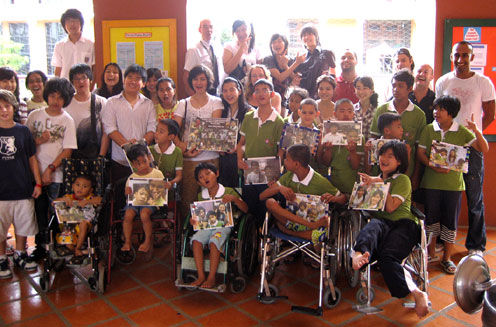 Children�s home for kids with disabilities and HIV/AIDS in LatKrabang Thailand