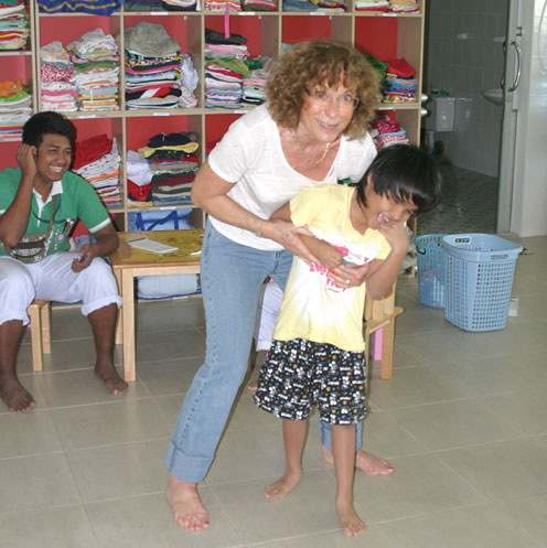 Childrens home for kids with disabilities and HIV/AIDS in LatKrabang Thailand